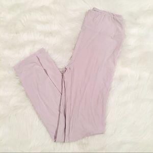 LuLaRoe solid light lavender purple leggings OS